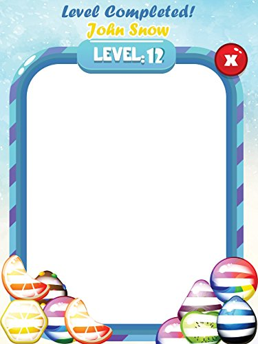 Custom Home Video Game Candy Level UP Photo Booth Prop - Size 36x24, 48x36; Personalized Candy Game Photo Frame, Handmade DIY Party Supply Photo Booth - Apps Tape Mix