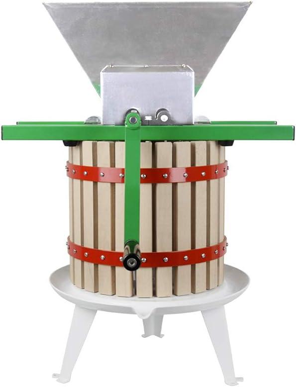 Fruit Wine Press and Crusher,100% Nature Apple&Grape&Berries Crusher Manual Juice Maker for Kitchen …