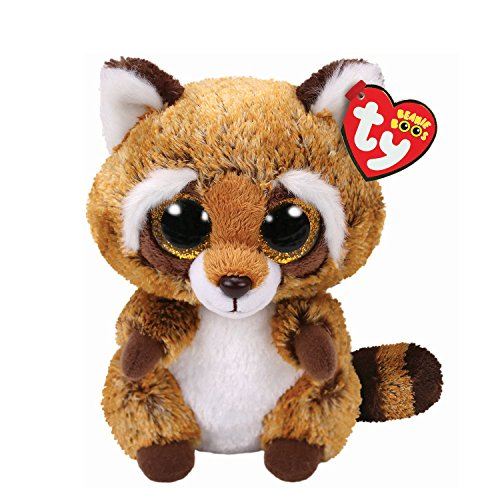 Claire's Girl's Ty Beanie Boo Small RusTy the Raccoon Plush Toy (Raccoon Rusty)
