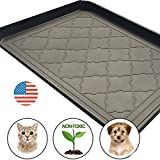 Easyology Premium Pet Food Tray - Dog Food Mat And Cat Food Mat With Non Skid Design - Best Pet Bowl Mat For Containing Spills and as Pet Food Mat Feeding Mat- Shoe Tray - Boot Tray 17.5'' x 14''