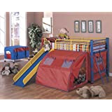 Coaster Bunk Bed, Red/Yellow/Blue