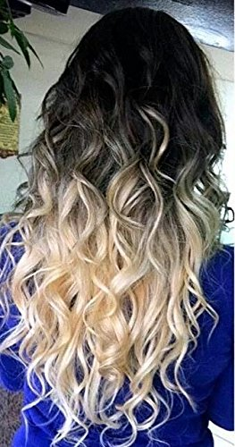 Amazon Com 20 Ombre Dipdye Wavy One Piece Clip In Hair Extensions