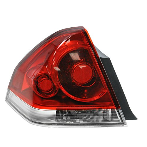 Taillight Lamp Taillamp Rear Brake Light Driver Side Left LH for 06-13 Impala Tail Lamp Left Side Driver