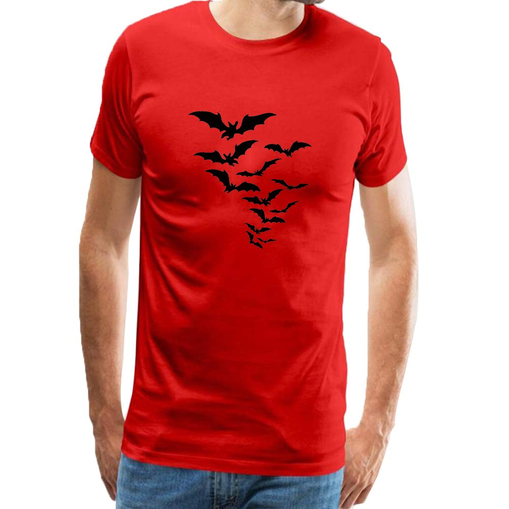 Novelty Creative Halloween Bewitching Bat Design S Short Sleeve T Shirts Graphic Fashion S