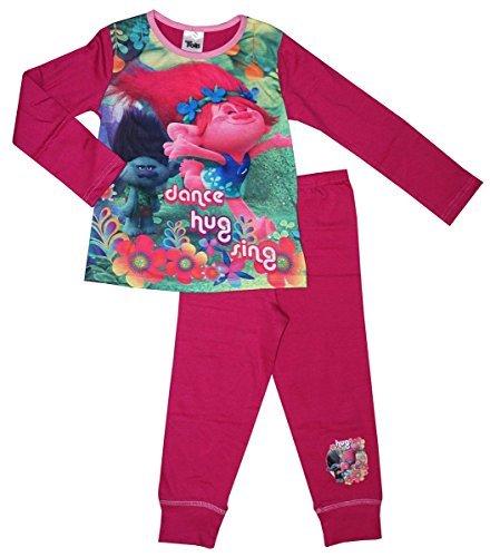 Dreamworks Trolls - Pijama - para niña Rosa rosa 7-8 Años