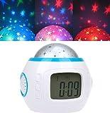 DragonPad Music Starry Star Sky Projection Alarm Clock Calendar Thermometer