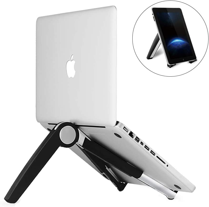 """Laptop Stand Adjustable Portable Tablet Holder,Cooling Portable Ventilated Stand,Multifunction Folding Bracket,Ergonomic Desktop Stand Fits Notebooks from 10""""-17"""" and All Tablets"""