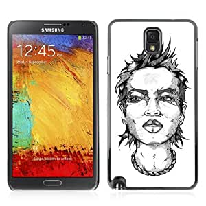Designer Depo Hard Protection Case for Samsung Galaxy Note 3 N9000 / Tattoo Woman