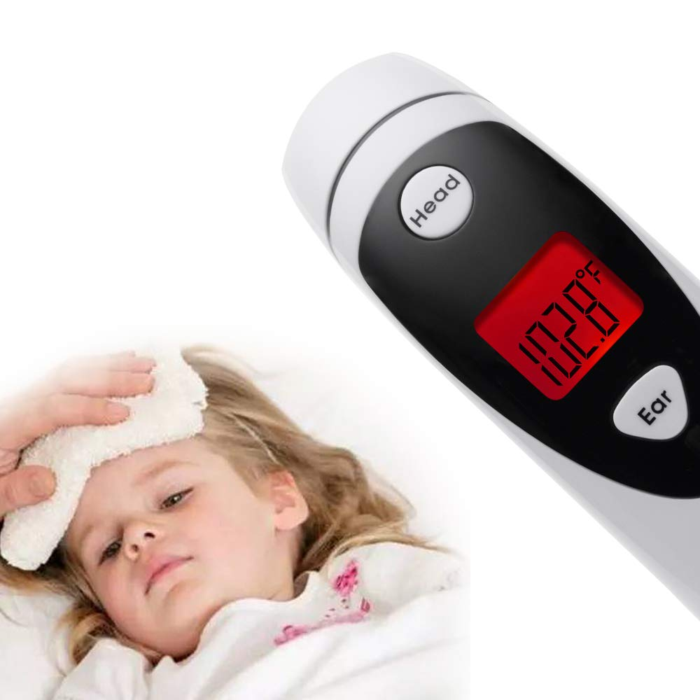 Ear and Forehead Thermometer,Infrared Medical Thermometer,Accurate and Fast Readings, Suitable for Baby, Infant, Toddler and Adults with FDA and CE Approved