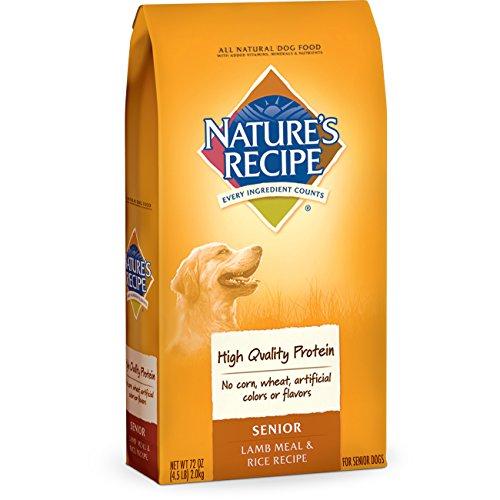 Nature's Recipe Senior Dog Food, Lamb Meal & Rice Recipe, 4.5-Pound
