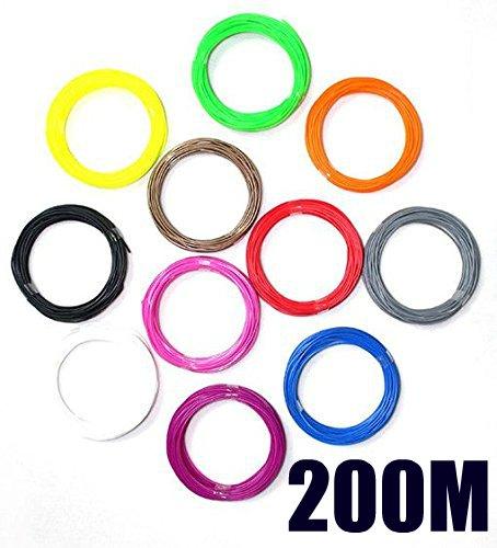 myriwell® Stylo d'Impression stéréoscopique 3D 1,75mm ABS filament Mega Pack 200m