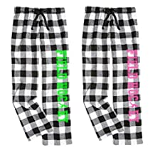 Black and White Checkered Field Hockey Flannel Pant