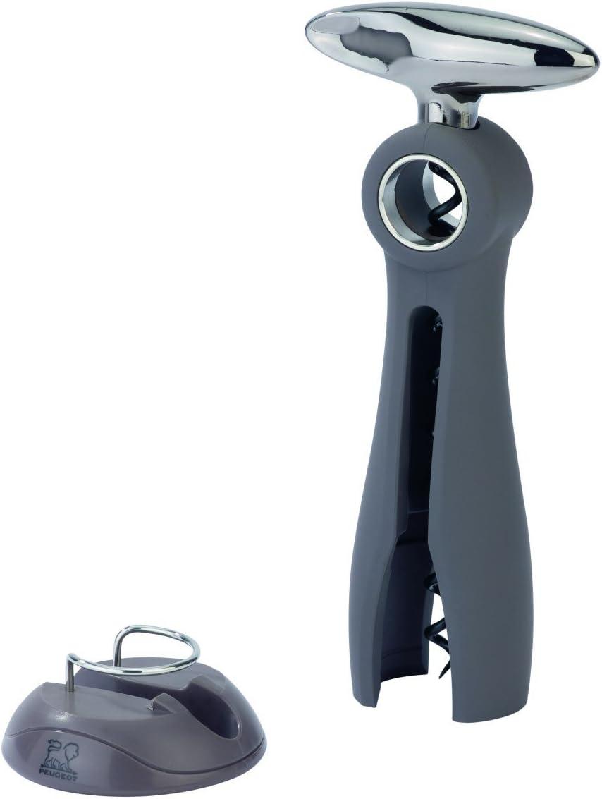 Taille/: 11 cm 200251 Mati/ères/: zamac et ABS soft touch Pour bouchon anciens ou fragiles Couleur/: noir Peugeot Mathus Tire-bouchon /à lames avec /étui
