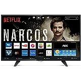 """Smart TV LED 43"""" FHD com WiFi 2 USB 3 HDMI Digital Controle com Botão Netflix, AOC, LE43S5970, Preto"""
