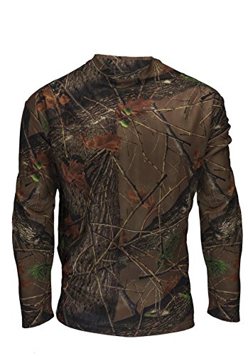 Men's Active Performance Camo Long Sleeve T-Shirt, Medium, Highland Forest