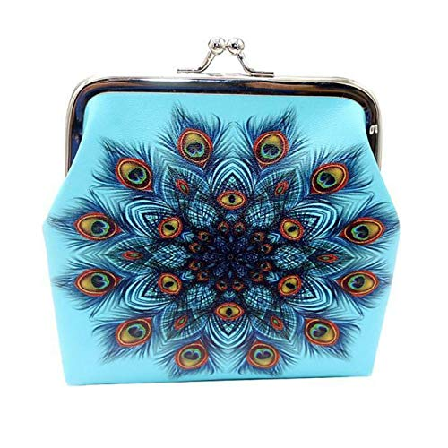 - Womens Print Coin Purse Money Bag Change Card Holders Small Wallet Clutch Purse (Color - B)