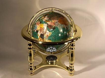 Gemstone World Map.Amazon Com 10 Tall Green Crystallite Table Top Gemstone World Map