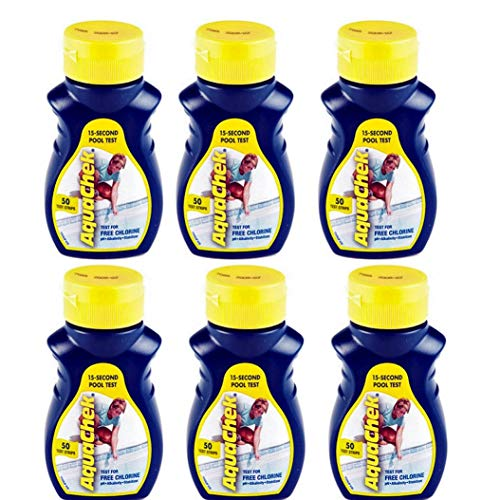 AquaChek New Yellow Swimming Pool Spa Chlorine 4 in 1 Test S
