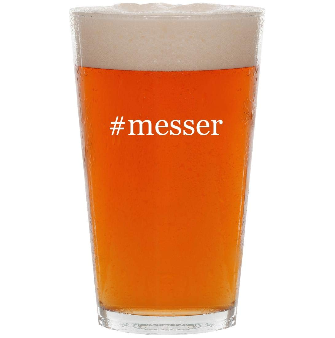 #messer - 16oz Hashtag Pint Beer Glass