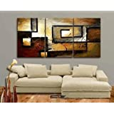 Amazon Price History for:Mon Art 100% Hand Painted Oil Painting Abstract Art Large Modern Art 3 Piece Wall Art Canvas Art for Home Decoration (UnStretch/UnFrame)