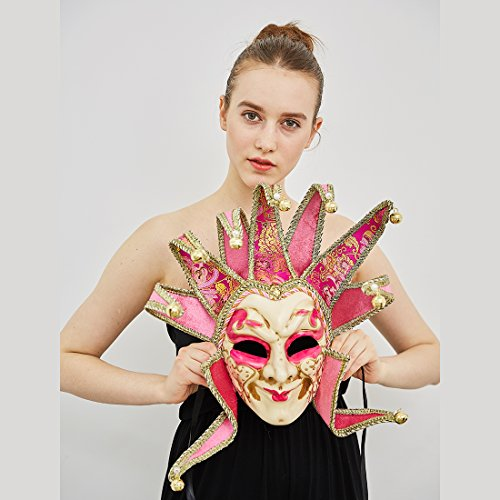 Venetian Full face Jolly Jester Custom Prom Accent Masquerade Mask