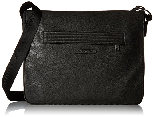 Armani Jeans Men's Polyester and Pu Messenger Bag with Outside Zip Pocket, (Armani Shoulder Bag)