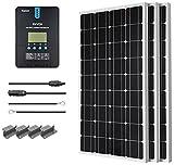 Renogy 300 Watt 12 Volt Monocrystalline Solar Starter Kit with 40A Rover MPPT Charge Controller
