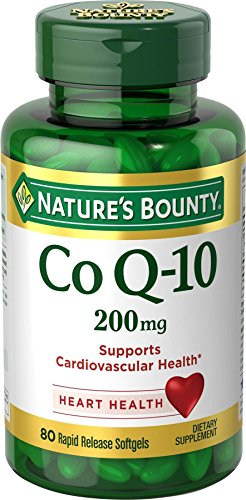 Nature's Bounty Co Q10 Pills and Dietary Supplement, Supports Cardiovascular and Heart Health, 200mg, 80 Softgels (5 Best Selling Coenzyme Q10 Supplements)