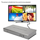 VANKER 1080P HDMI 4x 1 Quad Multi-viewer Splitter with Seamless Switcher Remote Control (Quantity 35)
