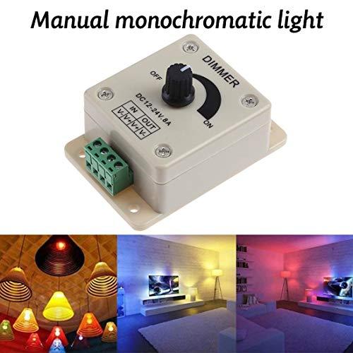 1pcs DC12V 24V LED Dimmer Switch 8A Voltage Regulator Brightness Adjustable Controller for LED Strip Light Lamp