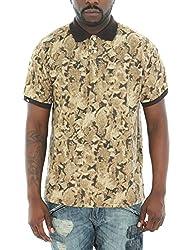 Imperious Men's Animal Print Short Sleeve Pique Polo Shirt-Snake-M