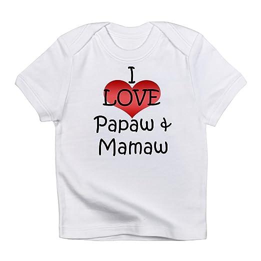 20d0d189 Amazon.com: CafePress - I Love Papaw & Mamaw Creeper Infant T-Shirt ...
