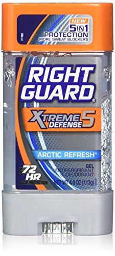 Right Guard Total Defense 5 Power Gel, Antiperspirant & Deodorant, Artic Refresh, 4 Ounce (Pack of 5)