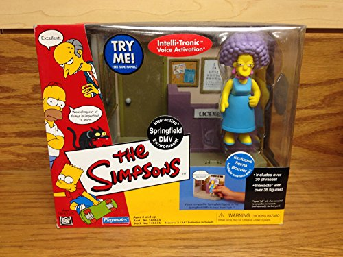 Springfield DMV w/ Selma Bouvier THE SIMPSONS 2001 Action Figure Set New in Box]()