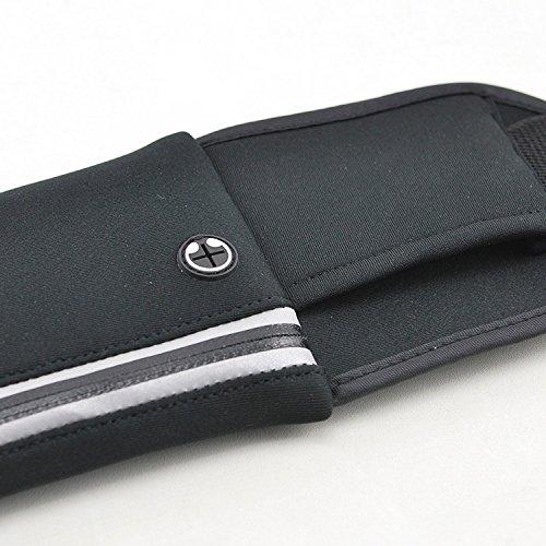 Sport della cintura con Zip tasche del telefono elegante borsa in esecuzione jogging Marsupio di N di piatto e cintura da corsa Corsa della cinghia Supporto del telefono per Jogging Running Belt sui f