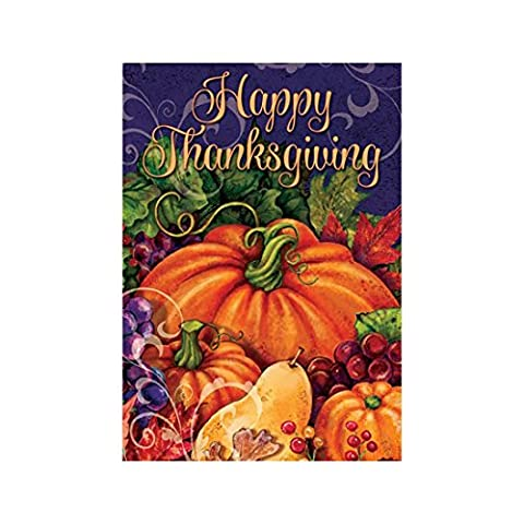 Custom Decor Flag Thanksgiving Pumpkin Garden flags decorative flags initial flags party flags 12.5 x 18 Inch Double Sided banner home flags Print house - Double Sided Pole