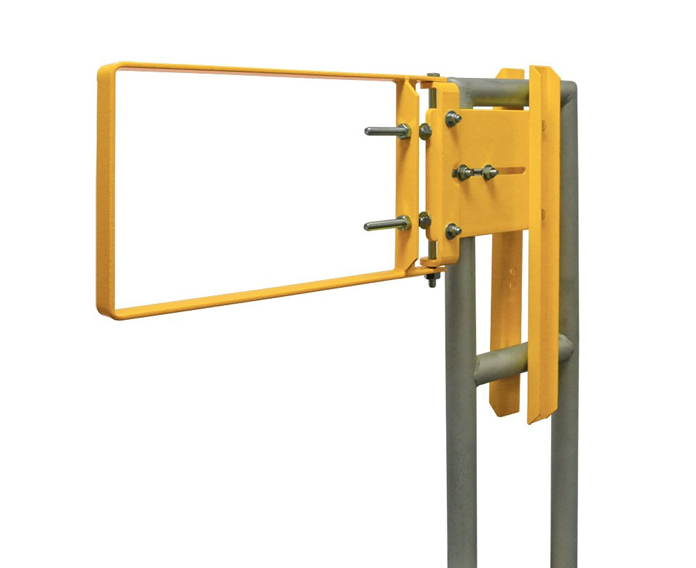 Fabenco A71-21PC A-Series The Original Self-Closing Safety Gate, A36 Carbon Steel with Yellow Powder Coat, 22-to-24.5-Inch x 12-Inch