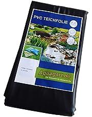 Aquagart Estanque Pantalla PVC 4m x 6m 0,5mm Negro Protector de Pantalla para el jardín