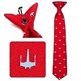 Star Wars Boys Silk Neck Tie (X-Wing - Red)