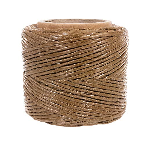 Polypropylene Value Twine, Tan, 200 Feet - Great for DIY Crafts, Bundling, and Packaging