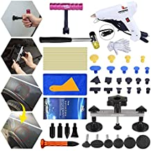 FLY5D Home Use DIY Power Hot Glue Gun Dent Repair Removal Puller Tools Kit for Auto Car Pops a Dent Pull out Hail Damage