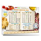 "2017 Best Design Most Useful Kitchen Conversion Chart 8.5"" x 11"" Big Magnet Easy to Read Comprehensive Cooking Metric Conversions Tables Magnetic Measurement Conversion Magnet Chart By Intel Kitchen"
