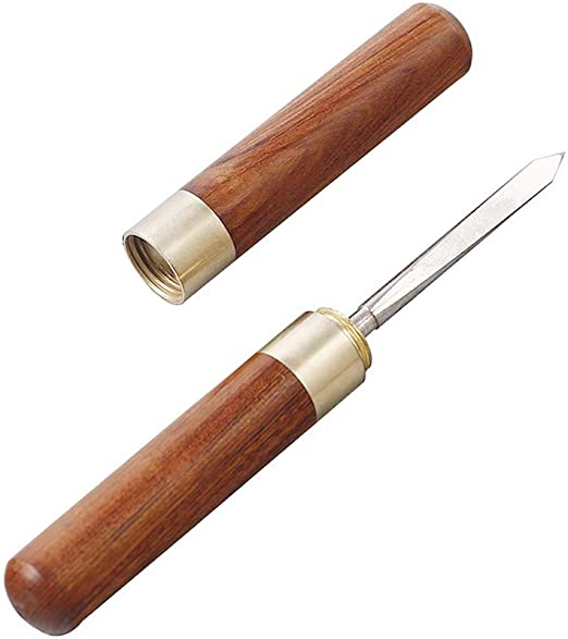 6.7 Inch Stainless Steel Ice Pick with Safety Wooden Handle Double Head Ice Pick for Kitchen Bars Ice Pick