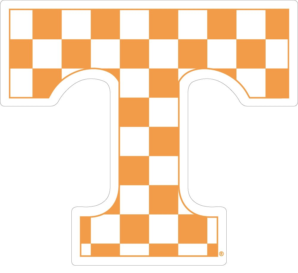 UT TENNESSEE Large 12 Checkerboard Auto Magnet