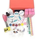 Warm Girl 36W pink UV Gel Lamp Dryer Nail Art Care UV gel Acrylic Powder Glitter Gel Remover Topcoat Glue Nail Buffer Set Kit