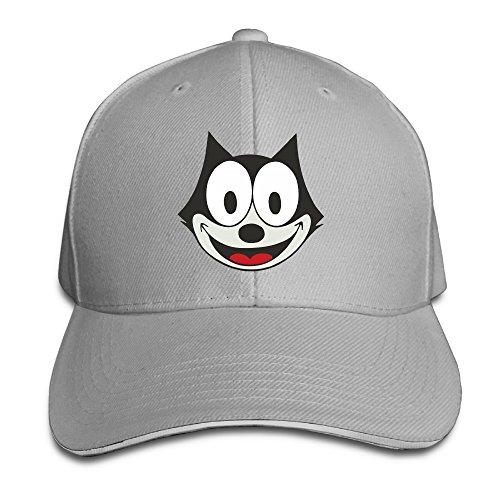 Unisex Felix The Cat Adjustable Snapback Baseball Cap Ash One ()