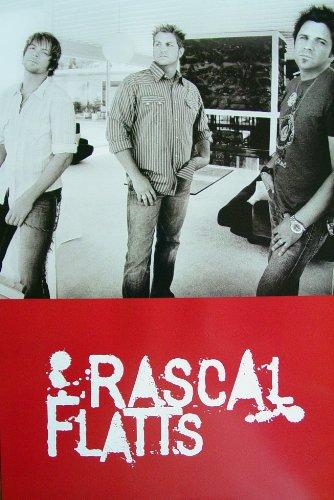 Rascal Flatts - Poster - Rare - New - Gary Levox - Jay Demarcus