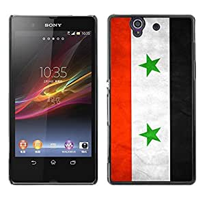 Shell-Star ( National Flag Series-Syria ) Snap On Hard Protective Case For SONY Xperia Z / L36H / C6602 / C6603 / C6606