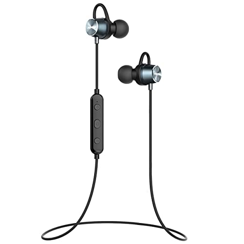Wireless Headphones, Ultra-Lightweight, Mpow Bluetooth Wireless Running Earphones IPX7,Waterproof Earbuds, Stereo Sound, Noise Cancelling, Sports Exercise Gym iPhone iPad Samsung,Siri Mic & Magnetic
