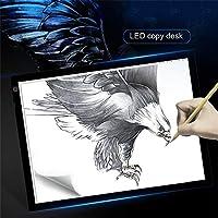Liquidación Stock A3 Tablero de dibujo LED portátil Protección de la vista Mesa de trazado regulable táctil Caja de almohadilla de luz para bocetos de animación 2D - Blanco y negro: Amazon.es: